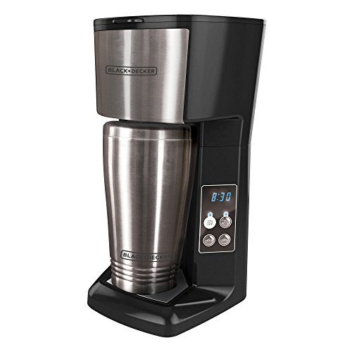 BLACK+DECKER CM625B Programmable Single Serve Coffee Maker with Travel Mug, New eBay