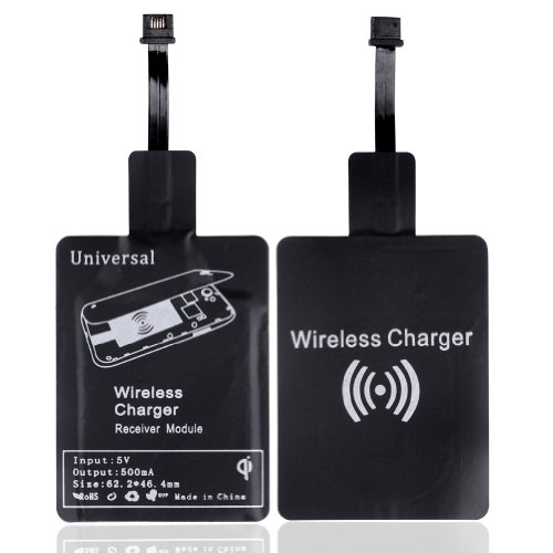 Top Plaza 1X Qi Wireless Power Pad Charger For Iphone Samsung Galaxy S3 S4 Note 2 Nokia Nexus 4, High Quality, Efficient, Rapid And Safe Charging, + 1X Universal Qi Wireless Charging Receiver Micro-Usb Android Mobile (1X Receiver Micro-Usb)