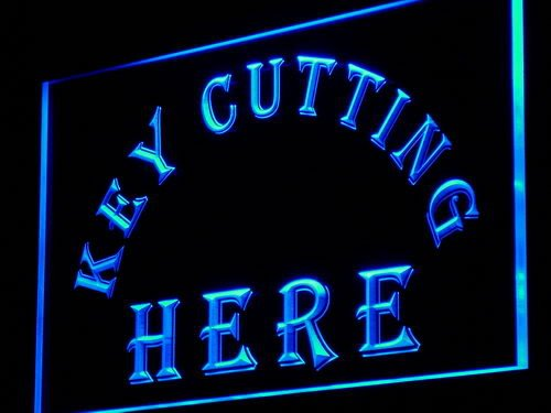 Adv Pro I882-B Key Cutting Here Cut Shop Led Light Sign