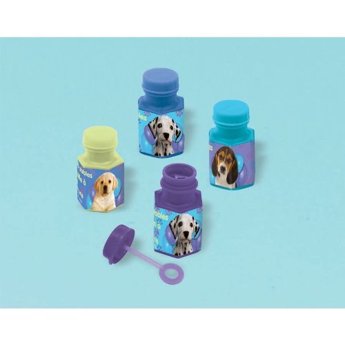 Cute Party Pups Mini Bubbles Birthday Party Favors, 3/5 oz, Blue/Green - 1