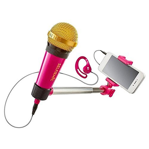 Selfie Mic Karaoke Sing along Toy in Pink