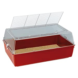 Ferplast Duna Multy Hamster and Mice Cage, 71 x 46 x 31.5 cm, Red