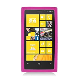 [SUGARPHONE] HOT PINK Silicone Soft Skin Gel Case Cover For Nokia Lumia 920 (AT & T) by For Nokia