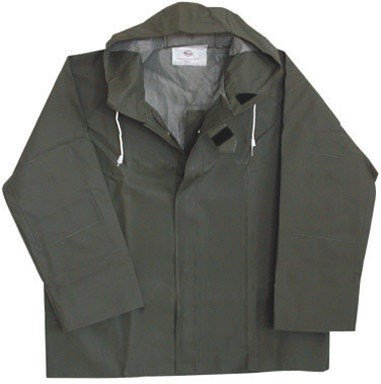 Boss Rainjacket With Hood Large 50 Mil Green front-375843