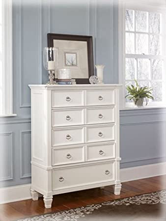 Cottage Style White Prentice Bedroom Chest of Drawers