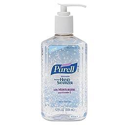 PURELL GOJ 3659-12 Advanced Instant Hand Sanitizer, 12 oz. Pump Bottle, Clear (Pack of 12)