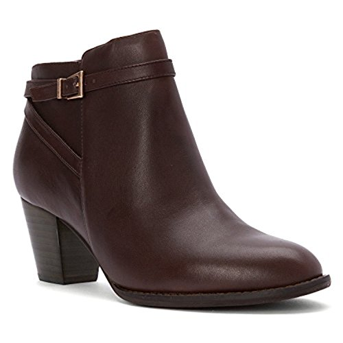 Vionic Womens Upright Upton Heeled Ankle Bootie Shoes, Java, US 9