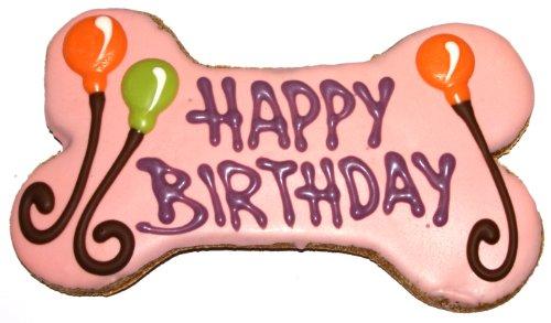 Pawsitively Gourmet Happy Birthday Bone, Pink