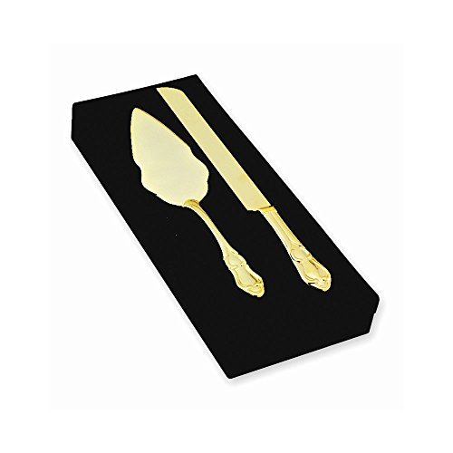 Jewelry Best Seller Gold-Plated Knife And Server Set