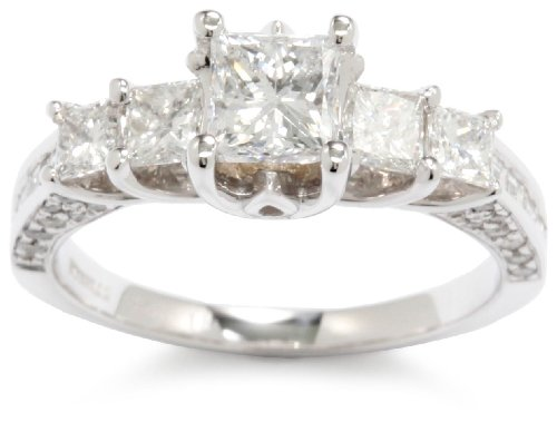 Kobelli-2-15-cttw-Princess-Diamond-14k-White-Gold-Engagement-Ring-Size-9