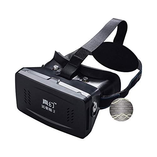 VIGICA Virtual Reality Headset iMax 3D Video Glasses Plastic Version with Magnet Controller for 3D Movies Games 3.5-6 inch Iphone Samsung HTC Cellphones