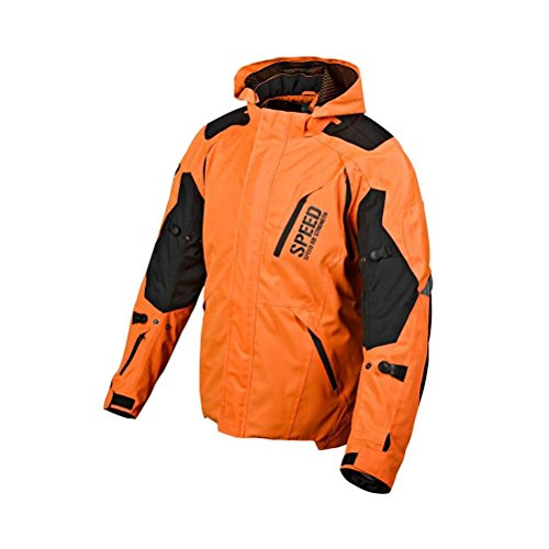 Speed and Strength Urge Overkill Men's Motorcycle Textile Jacket (Orange/Black, Small)