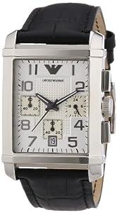 Emporio Armani Herren-Armbanduhr Chronograph Quarz Leder AR0333