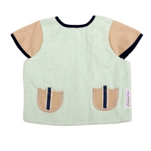 Baby Chaleco Shoulder Shield Mint/Khaki with Denim Tab Pocket Detail - Infant