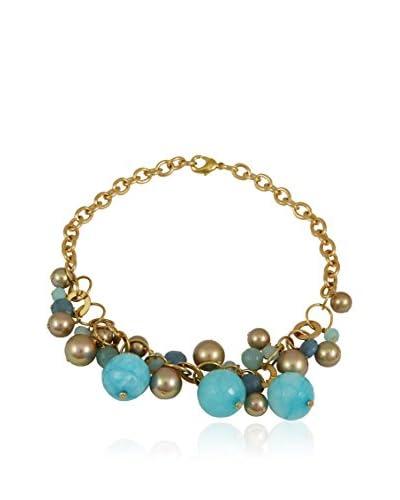 Devota & Lomba Collar Azul / Dorado