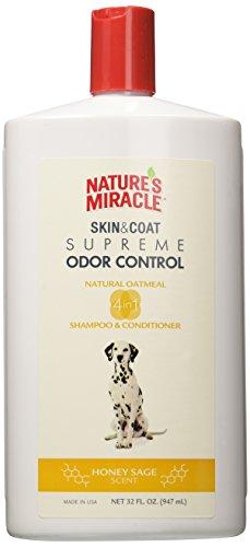 Nature's Miracle Supreme Oatmeal Odor Control Shampoo & conditioner honey saga, 32 oz (Nature Miracle Shampoo compare prices)