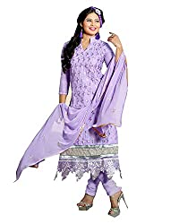 YOUR STYLE VOL.3 PURPLE EMBRODERY WORK MATERIAL BY BALKRISHNA FABRICS