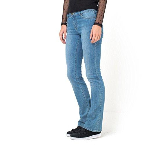Les Petits Prix Donna Jeans Bootcut Denim Stretch, Vita Normale Taglia 52 Blu