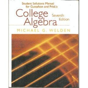 College Algebra (Student Solutions Manual) PDF