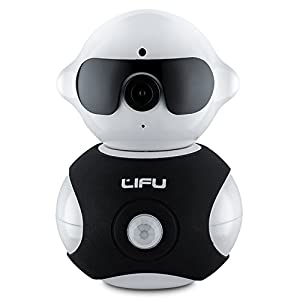 Wireless IP Camera, LiFu Mini Robot Home Security Surveillance HD WiFi Camera Built-In Microphone with Night Vision for Pet, Baby Video Monitoring