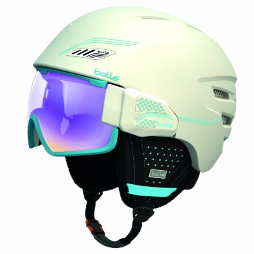 Bolle Osmoz Snow Helmets, Soft White and Blue with Aurora Lens, 58-61cm