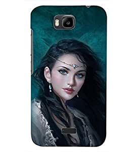 PrintDhaba CUTE GIRL D-6246 Back Case Cover for HUAWEI HONOR BEE (Multi-Coloured)
