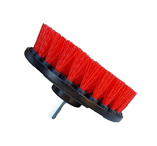Bring It On Cleaning 5 Inch Flat Drill Brush, Clean Tile and Grout, Clean Stone and Brick, Clean Rims, Shower Pans and Tubs, Sinks and Floors. Drill Scrub Brush (Plastic Rim Dip compare prices)