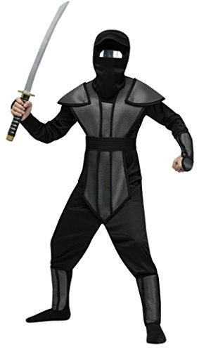 Boys Haunted Mirror Ninja Kids Child Fancy Dress Party Halloween Costume