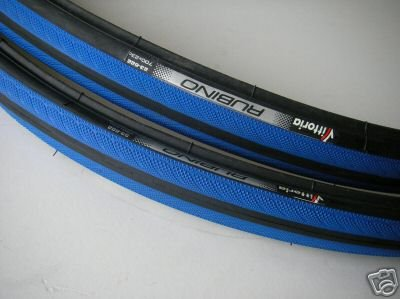 1 Satz Vittoria Rubino Rennradreifen blau/sw+2 Conti oder Schwalbe Schl&#228;uche