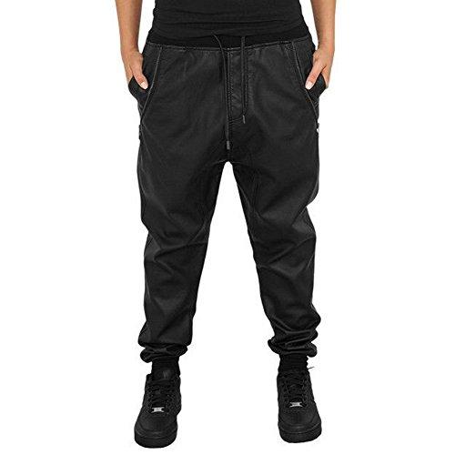 Urban Classics Damen Sweatpants Leather Imitation, Color:black;Größe:S