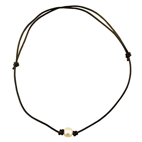 Necklaces - Adjustable One Single Freshwater Pearl Choker ...
