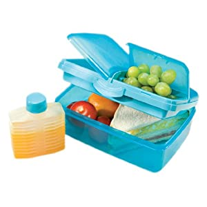 Sistema Slimline Quaddie Lunch Box, Aqua