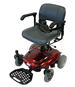 Betterlife Capricorn Portable Electric Power Chair Travel Wheelchair - Red