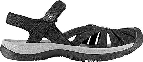 KEEN Women's Rose Sandal,Black/Neutral Gray,8.5 M US