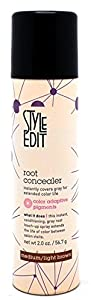 NEW! Style Edit Conceal Spray 2 oz. MEDIUM/LIGHT BROWN (Conceal your gray between color services)