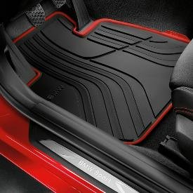 genuine oem bmw all weather floor mats sport line set of 4 includes 2 front 2. Black Bedroom Furniture Sets. Home Design Ideas