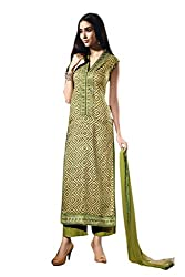 Ishin Cotton Multicolor Embroidered Lace Border Dress Material