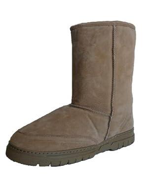 Woolworks Men's Genuine Australian Shearling Sheepskin/Suede Boots - Size 7