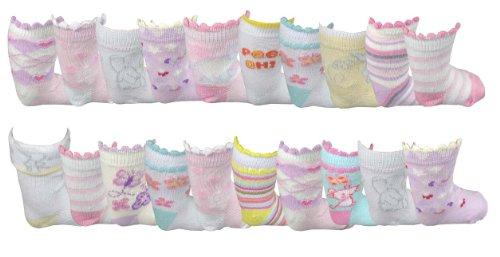 **Great Value** Baby Girl's 20 pack socks
