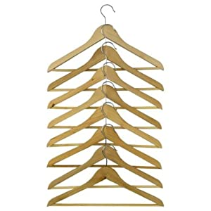 Set of 8 Ikea Bumerang Curved Clothes Hanger Natural Color Wood - Natural real wood stylish hangers