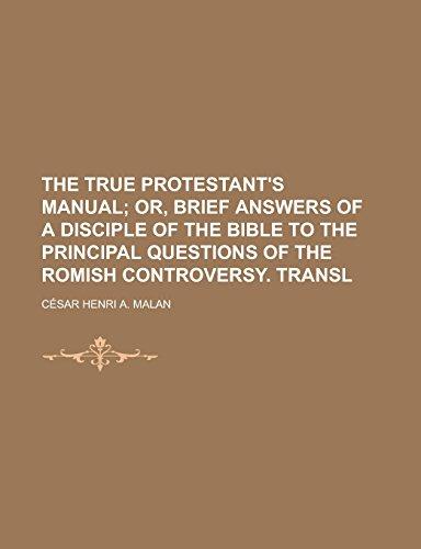 The True Protestant's Manual