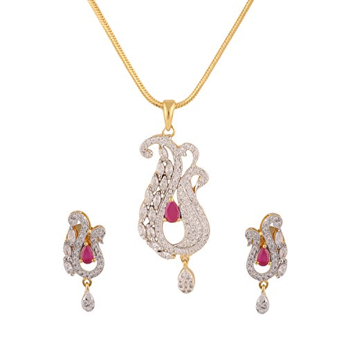 swasti-jewels-peacock-shaped-zircon-cz-traditional-fashion-jewelry-set-pendant-earrings-for-women-