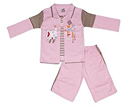Little Buds Pink Cotton Full Sleeve Baby Wear