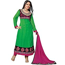StarMart Womens Georgette Resham Dress Material-1003