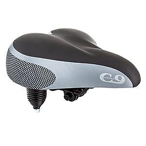 Sunlite Cloud-9 Bicycle Suspension Cruiser Saddle, Cruiser Gel, Tri-color Black