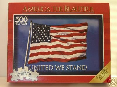 America The Beautiful United We Stand 500 Piece Jigsaw Puzzle