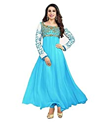 Shree Hans Creation Sky Blue Anarkali Dress Material