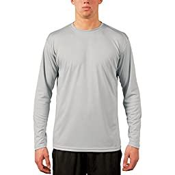 Vapor Apparel Men's UPF Long Sleeve Solar Performance T-Shirt Medium Pearl Grey