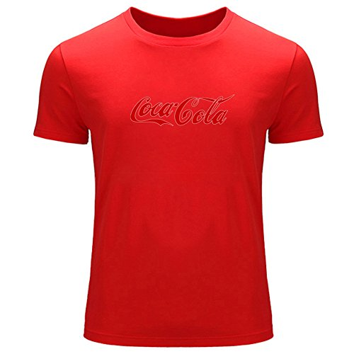 Coca Cola Logo Printed For Men's T-shirt Tee Outlet