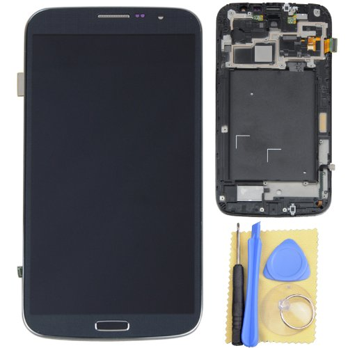 Black Lcd Touch Digitizer Assembly + Frame For Samsung Galaxy Mega 6.3 I9200 I527